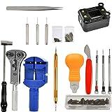 JAOMON Watchmaker Tools 147 Juego de Herramientas de Reparación de Relojero Profesional Batería de...