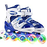 JIFAR Youth Children's Inline Skates for Kids, Adjustable Inline Skates with...