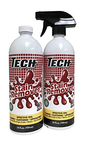 TECH Stain Remover, 24 oz Spray Bottle, 2-Pack, For Carpet, Clothes, Upholstery, and Other Fabrics