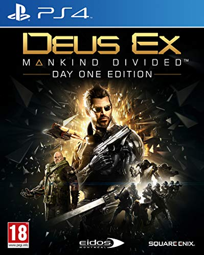 Deus Ex Mankind Divided Day One Edition Steelbook PS4 Game [Edizione: Regno Unito]