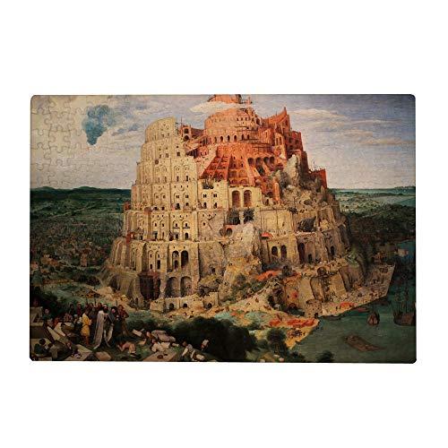 Dream Bay Quebra-cabeça de 1000 peças para crianças e adultos, torre de Babel