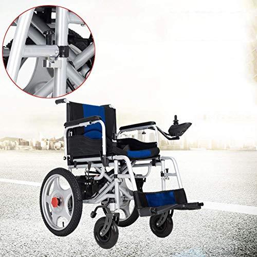 DJP Silla de Ruedas, Silla de Ruedas Eléctrica Plegable, Plegable, Ligero, para Anciano, Scooter, para Personas Mayores, Discapacitados, Cuatro Ruedas, Automático, Inteligente, para Discapacit