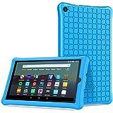 TiMOVO Custodia per Nuovo Fire 7 Tablet (9th Generation - 2019 Rilascio), Paraurti Leggera Case Protettiva in Silicone per Nuovo Fire 7 - Blu