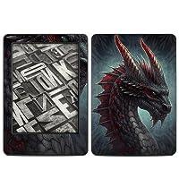 Kindle(2014年発売) スキンシール【Black Dragon】