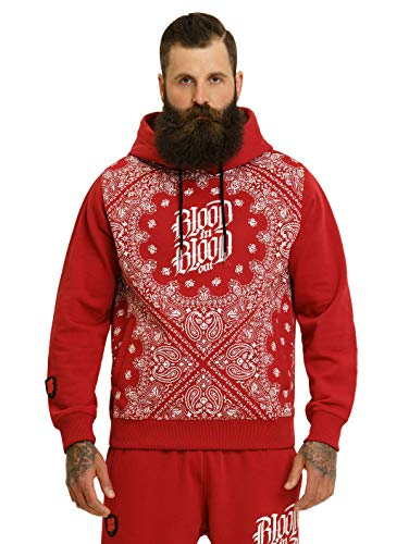 Blood In Blood Out Bandana Hoodie - rot 2XL
