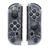 Joy Con Replacement für Joy-Con 2er-Set,Switch Joy Con Pad Controller Kompatibel mit Nintendo Switch mit Armbänder unterstützt Wecken Funktion(Transparentes Weiß)