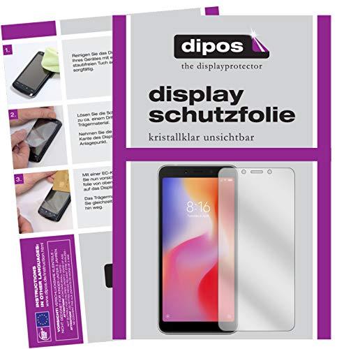 dipos I 2X Schutzfolie klar kompatibel mit Xiaomi Redmi 6A Folie Bildschirmschutzfolie