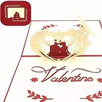 母の日カードレーザーカット3Dポップアップグリーティングカード愛封筒招待状ポストカードバレンタインデー用ウェディングギフトパーティーの装飾1ピース10X15 Cm