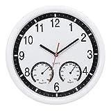Números Romanos Reloj Reloj De Piedra De Cuarzo Reloj De Pared Silencioso Termómetro Preciso Humedad Interior Piscina Exterior Patio