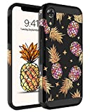 BENTOBEN iPhone XR Case, Slim Thin Dual Layer Hybrid Hard PC Soft Rubber Drop Protection Shockproof Bumper Anti-Scratches Non-Slip Girls Women Boy Phone Case Cover for iPhone XR 2018, Pineapple/Black