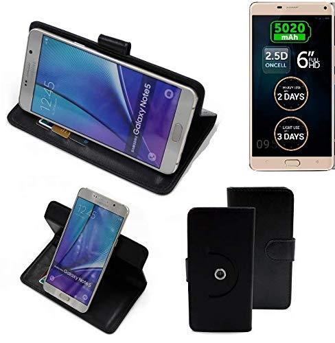 K-S-Trade® Case Schutz Hülle Für -Allview P8 Energy Pro- Handyhülle Flipcase Smartphone Cover Handy Schutz Tasche Bookstyle Walletcase Schwarz (1x)