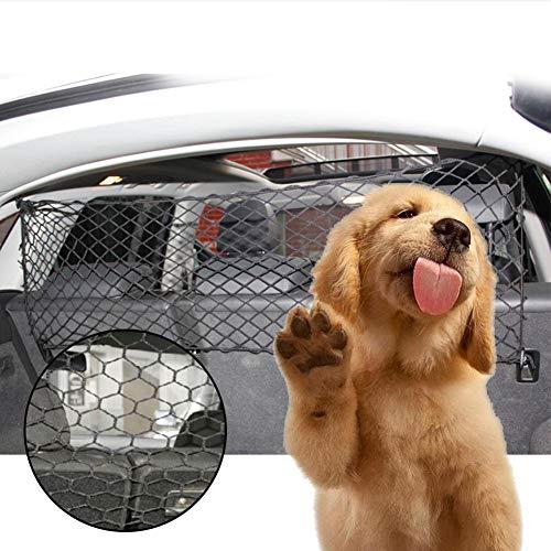 Auto-Sicherheitsnetz für Haustiere, universelles Auto-Reisenetz, für Haustiere, Hunde und Katzen, Barriere für Fahrzeug, Zaun, Kofferraum, Sicherheitsblöcke, Zugang zu den Vordersitzen mit Haken