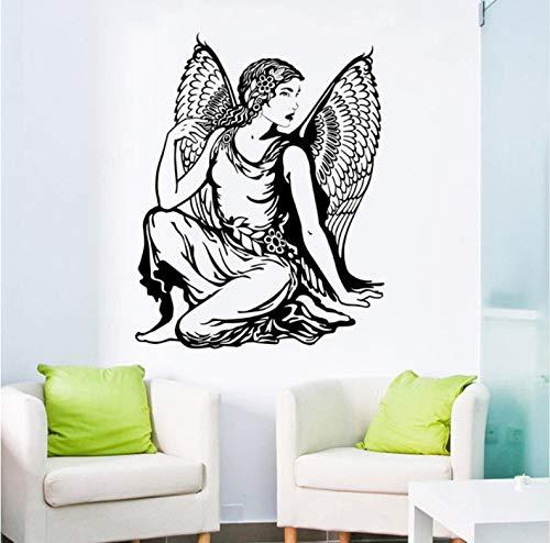 Waofe Wandtattoo Schöne Klassische Engel WandaufkleberHome Interior Bindfäden Abnehmbare Lady Angel Wallpaper Home Decor Kunst 45X57Cm