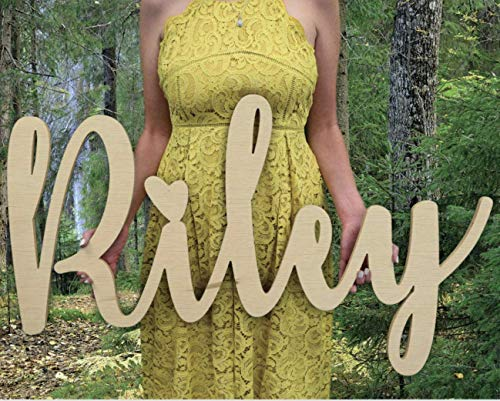 "Custom Personalized Wooden Name Sign 12-55"" WIDE - RILEY Font Letters Baby Name Plaque PAINTED nursery name nursery decor wooden wall art, above a crib"