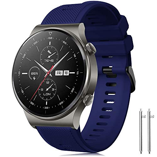 Correa Forerunner 745/Huawei Watch GT2 Pro 46mm/Galaxy Watch 3 45mm/Gear S3 Frontier/Classic/Galaxy Watch 46mm Banda de Silicona Deportiva 22mm Pulsera para Huawei Watch GT/GT 46mm/Ticwatch Pro