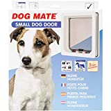 Dog Mate 4-Way Locking Small Dog Door, White (221WD)