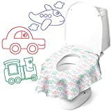 Cadily On The Go Potty Seat Protectors: 20pack Disposable Toilet Seat Covers | Potty Liners Disposable | Finally A Toilet Seat Cover That Completely Covers Any Toilet | Travel Potty Seat for Toddler