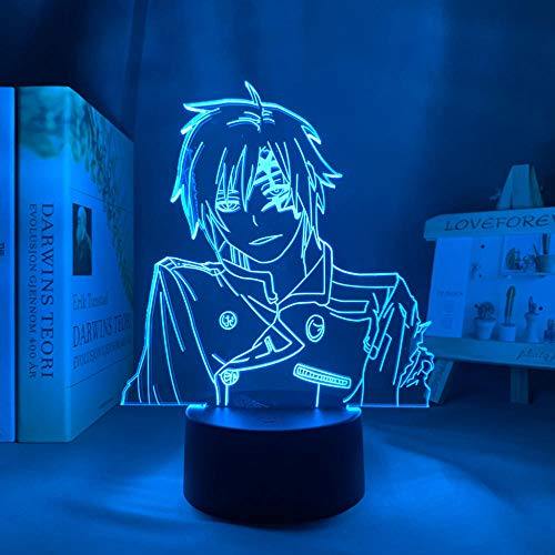 Lámpara de noche 3D Manga 3D Lampe d grau Mann Allen Wanderer Figur für Raumdekor Nachtlicht Kinder Bithday Geschenk D grau Mann Anime LED-Licht Schlafzimmer ZMSY