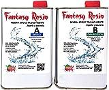 Fantasy Craft 0,3 Kg Fantasy, Resina epoxi Transparente Brillo bicomponente de Colada(Varios Pesos Disponibles)