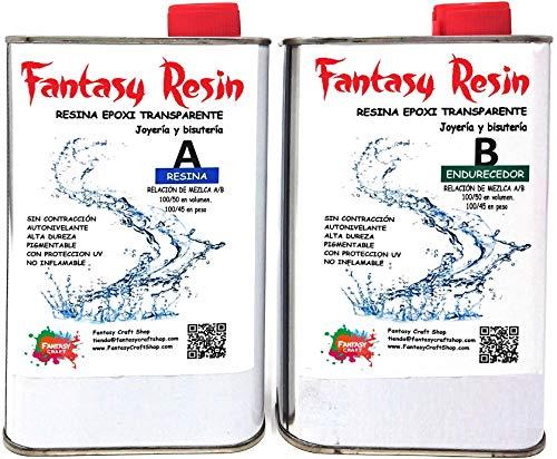 Fantasy Craft 7,5 Kg Fantasy, Resina Epoxi Trasparente para Colada pequeña Muy Brillante y con Filtro UV