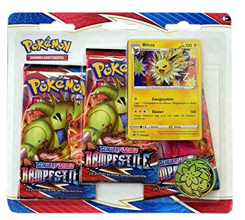 The Pokémon Company Pokemon Schwert & Schild Kampfstile SWSH5 3-Pack Blister deutsch (Blitza)