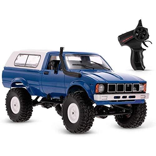 VanFty Juguete RC Camiones de alimentación Tome el Carro Vehículo 1/16 de 2,4 GHz de Alta Velocidad del Carro del Camino RC 4WD del Coche del Coche de RC con la Linterna de Control Remoto orugas Todo