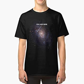 You Are Here Universe Galaxy Classic TShirtT shirt Hoodie for Men, Women Unisex Full Size.