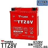 台湾ユアサ YUASA TTZ8V バイクバッテリー充電済 【互換 GTZ8V YTZ8V YTX7L-BS】 即使用可能 PCX リード125 YZF-R25 YZF-R3A MT250