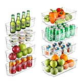 StorageMaid Stackable Storage Fridge Bins Refrigerator Organizer Bins for Fridge, Freezer, Pantry, Kitchen. Includes Magnetic Dry-Erase Whiteboard & Markers Set (2 Size Pack)