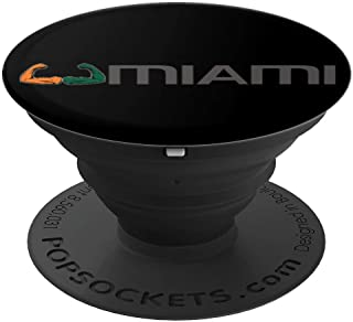Miami Sports Fan Cool College Football Tailgate Gifts - PopSockets Grip and Stand for Phones and Tablets