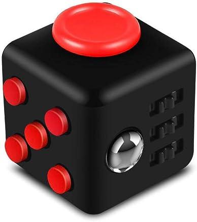 1 PCS Creative Fidget Cube Fidget Jouet Décompression Cube Kid Jouet Adulte Rubik 'pour soulager le stress et l'anxiété (Rouge et Noir)