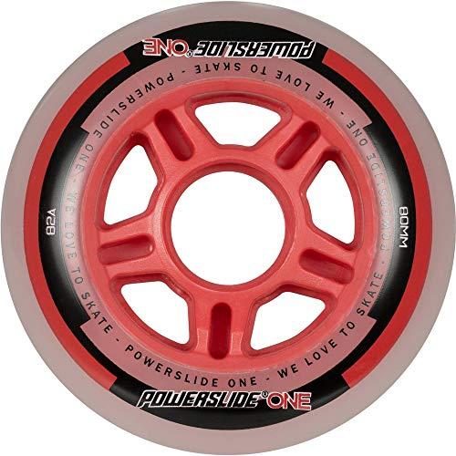 Powerslide Inline-Rollen-Set One Wheels, Smoke/Rot, 1