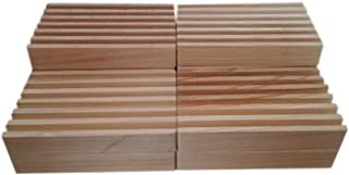 Bulk Cypress Wooden Soap Dishes AS SEEN ON TV Set of 10. Unfinished. Made in The USA. Water and Rot Resistant. Helps Bars Last Much Longer. Give as a Gift or Sell with Your Handmade soap.