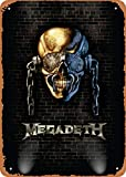 FLmiling Bands of Rock in The Wall Megadeth Military Plaque Poster Metal Tin Sign Retro Vintage 8x12 Inch Wall Decor
