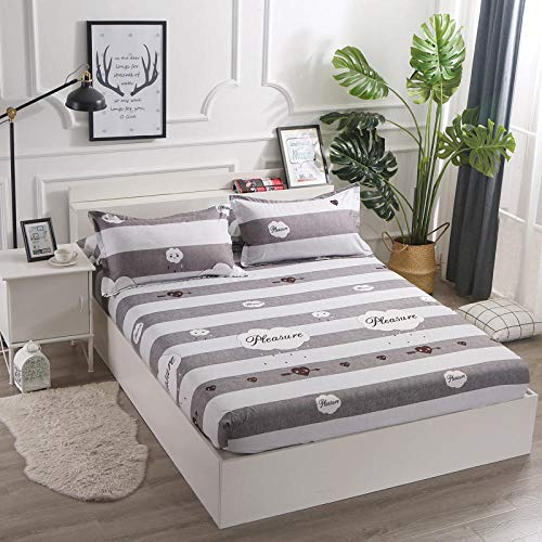 GTWOZNB Fitted Sheet -Breathable Soft and Comfortable Abrasion Resistant The bed sheet protective cover is dustproof and non-slip-4_180*200cm