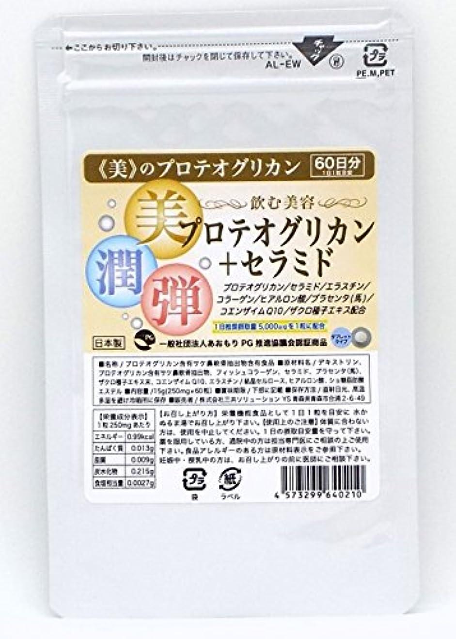 もっともらしい秀でるマイクプロテオグリカン+セラミド 60日分 ?飲む美容? プロテオグリカン セラミド エラスチン ヒアルロン酸 馬プラセンタ ザクロ コエンザイムQ10配 潤い 保湿で人気
