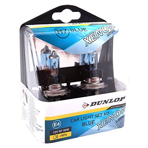 Dunlop H7 Box Halogen Lampen in Xenon Optik 8500k | Blue mehr Licht | 8500k 55W | E-Prüfzeichen | 100% Passgenauigkeit