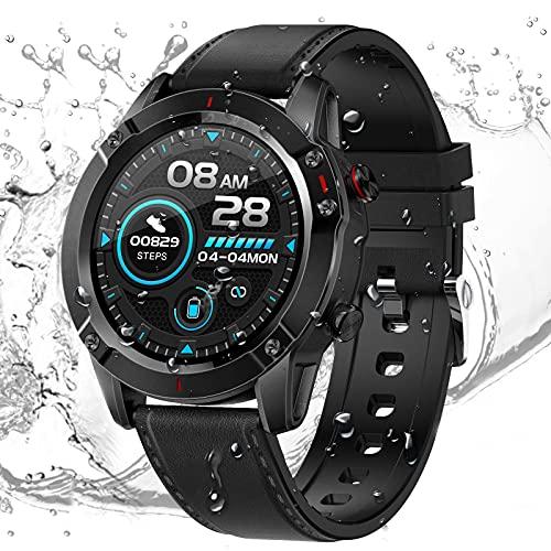 fitness tracker braccialetto ricambio HCLKSTORE Smartwatch Fitness Tracker Orologio Intelligente Uomo Braccialetto Attività IP68 con Cinturino Ricambio Monitoraggio del Sonno di Ossigeno Pressione Arteri per iOS e Android (Nero)