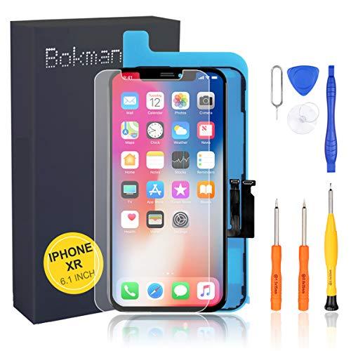 bokman LCD Pantalla para iPhone XR, Táctil LCD Reemplazo con Herramientas de Reparación