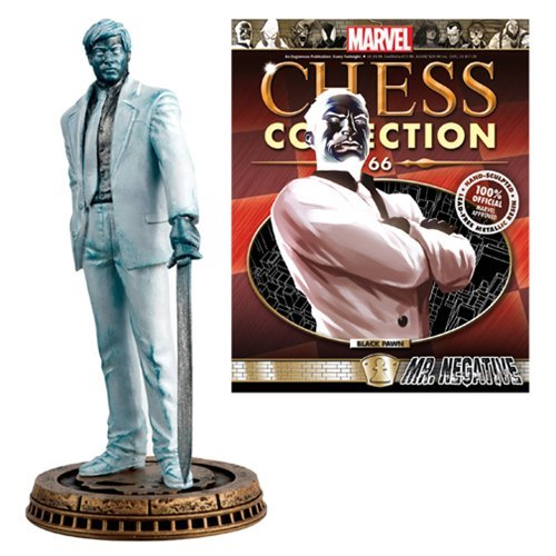 Eaglemoss Publications Marvel Mr. Negative Black Pawn Chess Piece with Collector Magazine