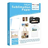Sublimation Paper Heat Transfer Paper 100 Sheets 8.3' x 11.7' for Any Epson HP Canon Sawgrass Inkjet Printer with Sublimation Ink for T shirt Mugs DIY
