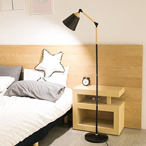 Ywyun Moderne minimaliste rotation épissage LED lampe de protection des yeux, pêche lampadaire, mode maison salon canapé chambre chevet étude éclairage vertical lampe de table ( Color : Black )