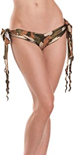 Raveware Lingerie Women's Sexy Camo Foil Lingerie Long Tie-Side Panty for Women