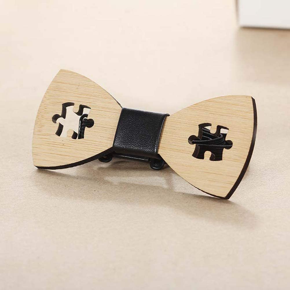 Wooden Bowtie Creative Uniuqe Hand Craft Hollow Bowknot Cravat Dress Collar Bow-knot Wedding Party Festival Decor for Men for Party Supplies