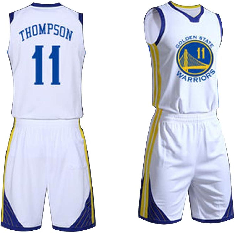 GY Herren Basketball Trikot 11 Klay Thompson Golden State Warriors Basketball Kleidung (XS-XXL) es ist EIN echtes Trikot