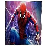 ARYAGO - Manta de microfibra suave de peluche (180 x 230 cm), diseño de Spiderman