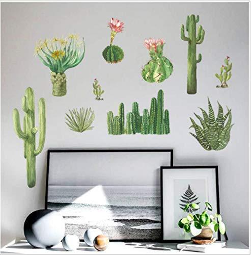 Wallpaper muurschilderingen Cactus slaapkamer kast vensterbank woonkamer veranda tv achtergrond muur decoratie muurstickers PVC