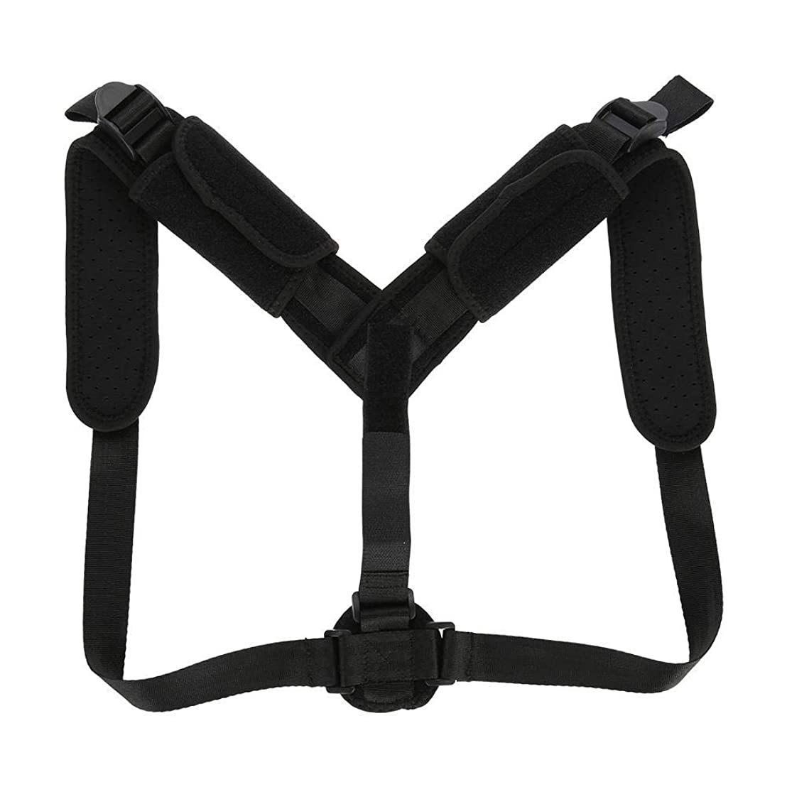 エレクトロニックずっと残り物アッパーバックブレース、調節可能なバックポスチャーコレクターショルダーブレース脊柱後Ky症補正腰部サポートベルトにより脊椎の健康を改善