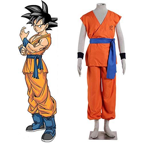 CHANGL Anime Dragon Ball Z Goku Super Saiyajin Gott Super Saiyajin Kakarotto Cosplay Kostüm Markenzeichen Zeit Patroller Trainingsuniform