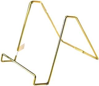 Jcnfa-Estante Soporte de exhibición de latón, Soporte de grabación, Metal de Escritorio iPad Tablet Rack (Color : Brass, S...